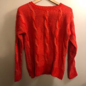 UO Sparkle & Fade Twisted Cable Sweater- Size M